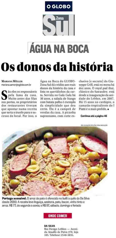 DaSilva - O Arroz de Pato é oferecido no bufê a quilo do Da Silva desde 2000