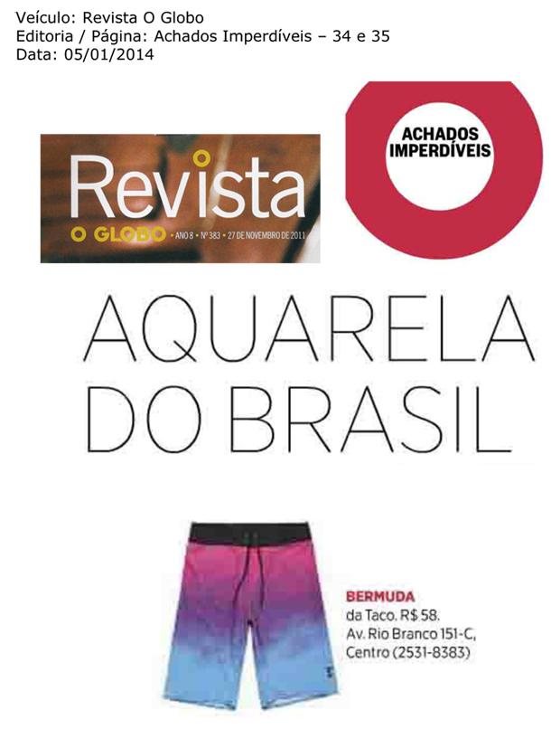 Aquarela do Brasil - Jornal O Globo - Revista O Globo