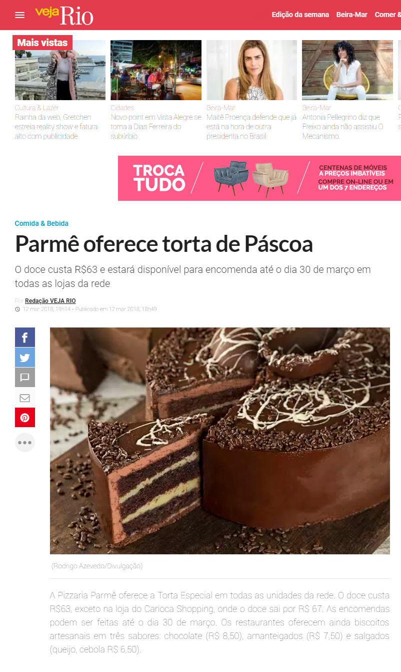 Pólen Comunicação Parmê oferece torta de páscoa