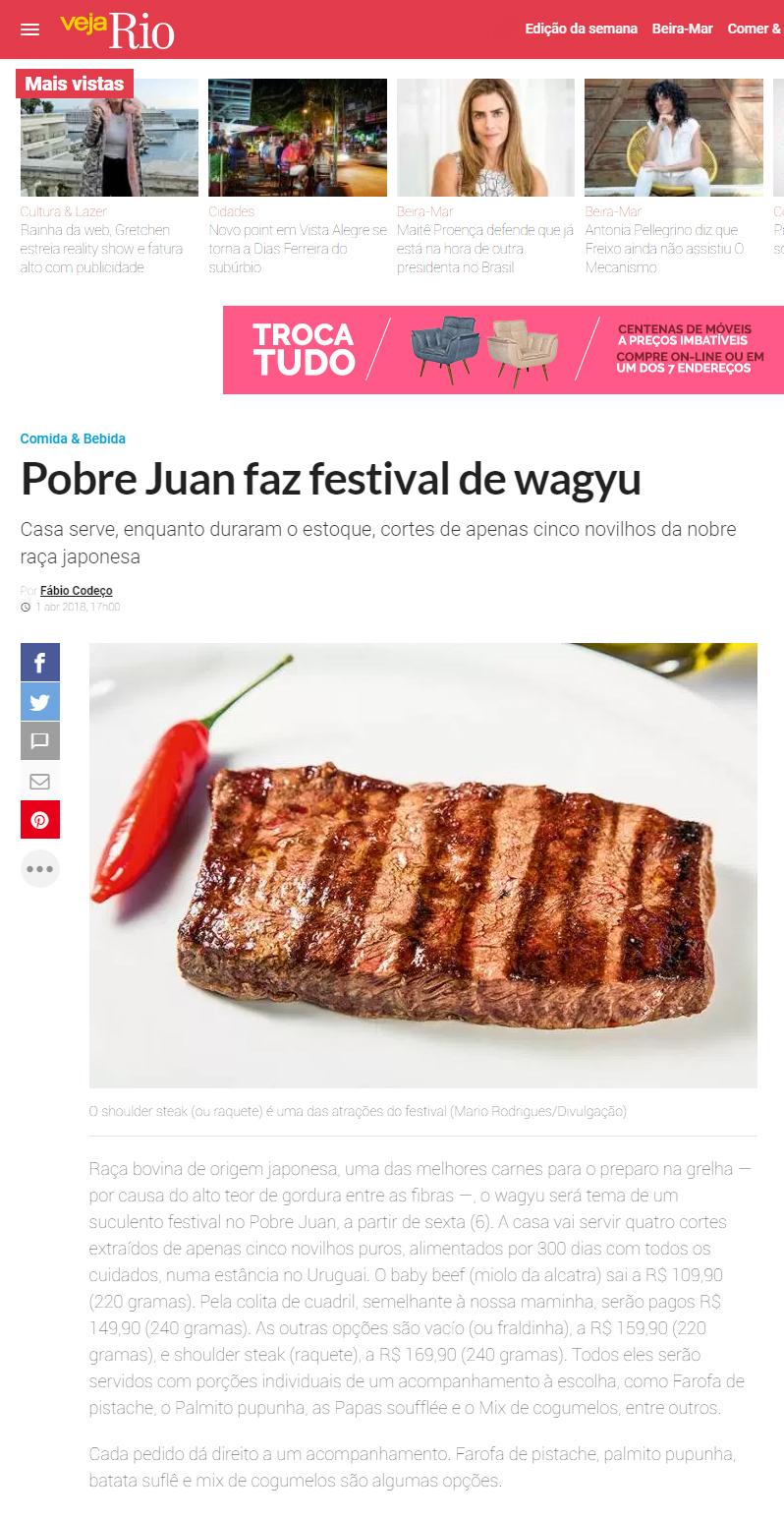 Pólen Comunicação Pobre Juan faz festival de wagyu